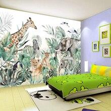 Wallpaper Decoration Forest Custom Background Mural 3D Nostalgic Animal