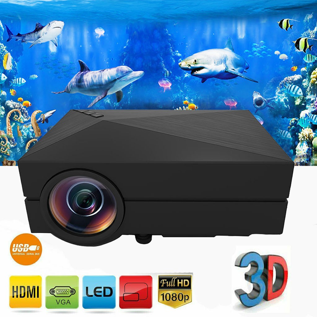 7000LM LED Projector Full HD 1080P Multimedia Home Cinema Thea-ter HDMI USB VGA Support 3D Video Low To 50W TFT LCD 23 Languages