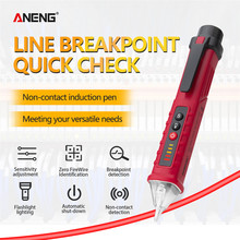 ANENG VD802 ללא מגע AC מתח גלאי Tester Meter 12V 1000v עט סגנון חשמלי חיווי LED מתח מד vape עט