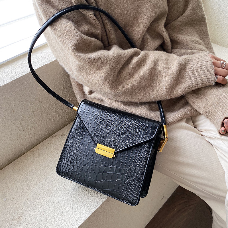 Stone Pattern PU Leather Solid Color Crossbody Bags For Women 2020 Small Shoulder Messenger Bag Female Handbags