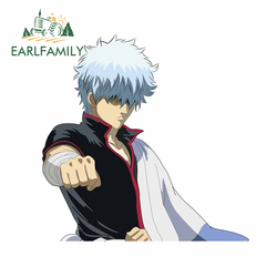 EARLFAMILY 13cm x 12.9cm For GINTAMA Car Stickers Vinyl Car Wrap Decal Motorcycle Occlusion Scratch Suitable for RV Decoration