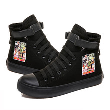 Women Shoes Sneakers Men High-Top Off White Hunter-X-Hunter Canvas Unisex Fashion Casual