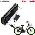 Серебряная рыбка литиевая батарея 48v 20ah Электрический велосипед батарея с USB портом подходит 48v 750w 1000w bafang 8fun мотор