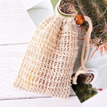 Nowe naturalne torby na mydło złuszczające pianka netto praktyczne Ramie prysznic Exfoliator gąbka etui wygodne Blister Mesh łazienka tanie i dobre opinie Soap bag