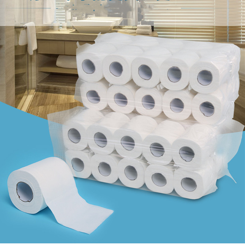 Home Bath Paper Bath Hollow Toilet Paper Roll White Soft Toilet Paper 10 Pack 3Ply Absorbent Hand Sanitary Paper Cleaning Towel