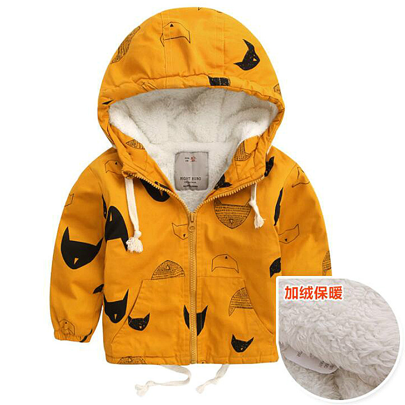 Baby Boys Girls Jacket Autumn Winter Warm Down Coat Jacket Hoodies Outerwear Christmas Children Kids Clothes Halloween Clothing 4
