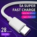 Kebiss кабель с разъемом USB Type-C 5A Быстрая зарядка через USB зарядный кабель с разъемом типа C кабель для передачи данных для Xiaomi Redmi Примечание 8 Pro ...