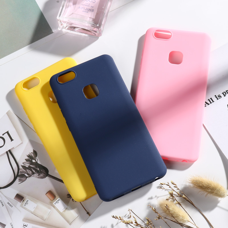 Silicone TPU Soft <font><b>Case</b></font> For <font><b>Vivo</b></font> Z5X IQOO Neo Y85 Y81 Y22 X9 <font><b>X9S</b></font> X20 V7 Plus X21 X21i X23 X27 Pro Nex A S Candy Color Cover Capa image