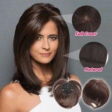 Шелковистые заколки для волос парик термостойкие волокна Наращивание волос для женщин QL