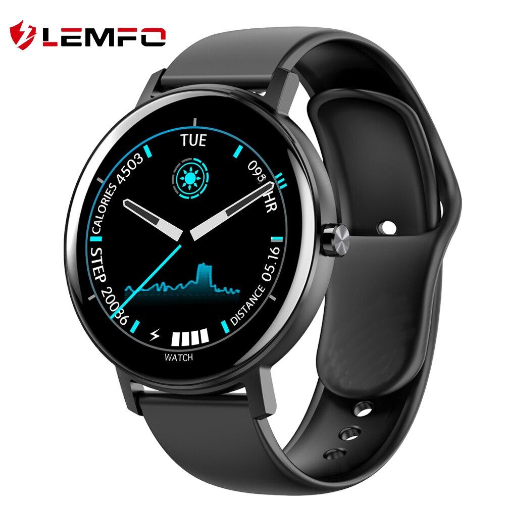 LEMFO Smartwatch 2020 Für Männer Frauen Full Touch HD Bildschirm IP68 Wasserdichte 30 Tage Standby Sport Smart Uhr Android IOS r18