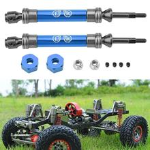 цена на 2Pcs Metal Rear Drive Shaft for Traxxas Slash 4X4 1/10 RC Truck Car Accessories