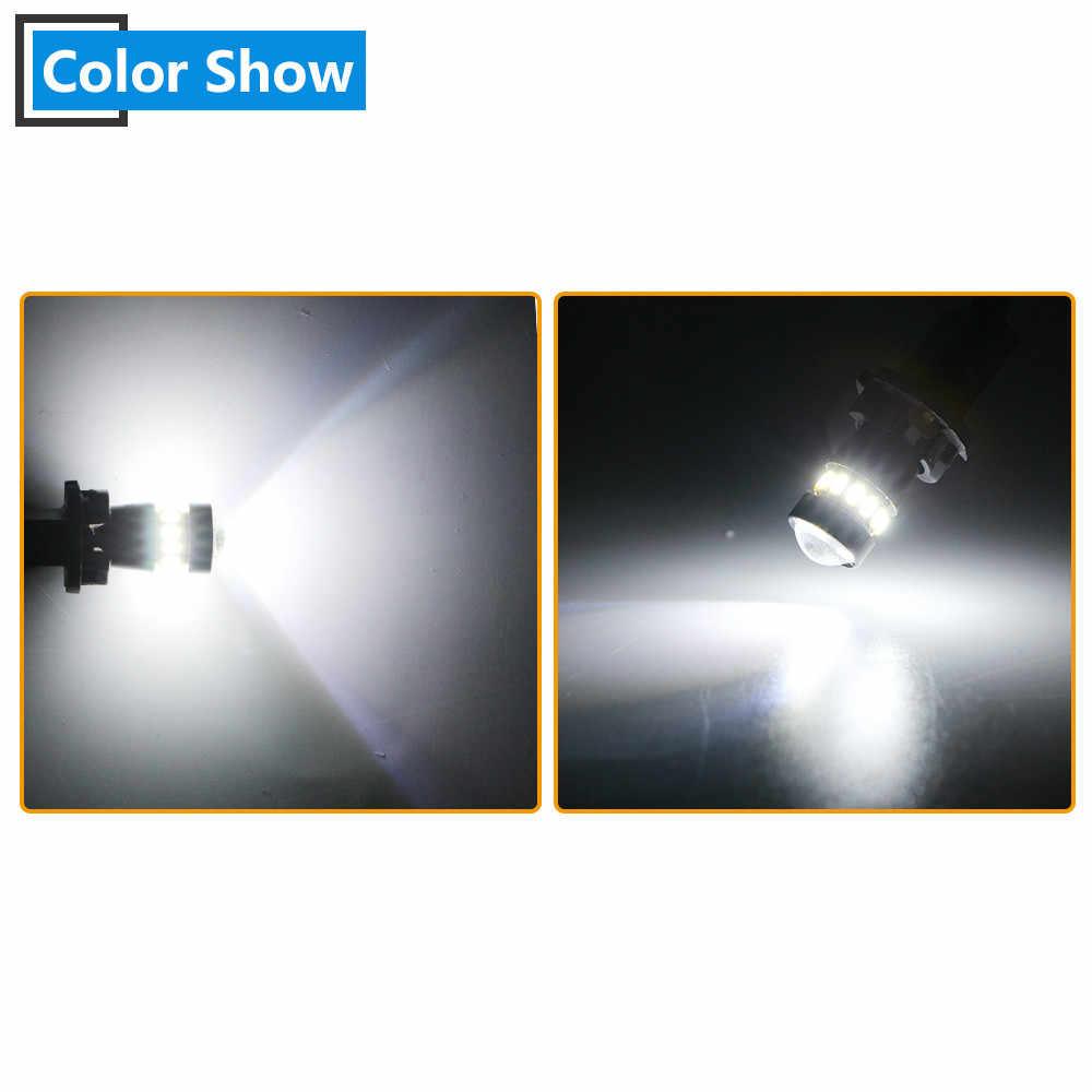 2X W5W T10 Canbus 3014 18 SMD Lens Led ampul hiçbir hata dönüş park kapı sinyal yan işaretleyici gösterge ışığı oto araba 6500k beyaz