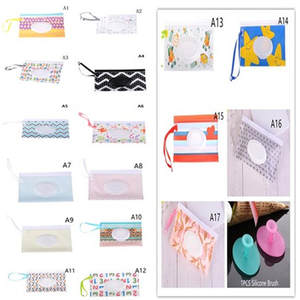 Wipe Container Tissue-Boxes Cosmetic-Pouch Clamshell Clutch And Clean Wet Easy-Carry-Strap
