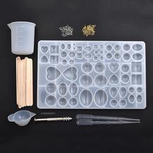 Molds-Tools-Set Jewelry-Kits Pendant Alphabet-Shaped Uv-Epoxy-Resin Heart Silicone DIY