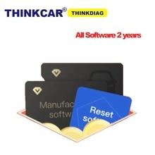 Thinkdiag الكامل البرمجيات بطاقة ل 2 سنوات إعادة البرمجيات تفعيل جميع البرامج PK diagzone النسخة القديمة Thinkdiag