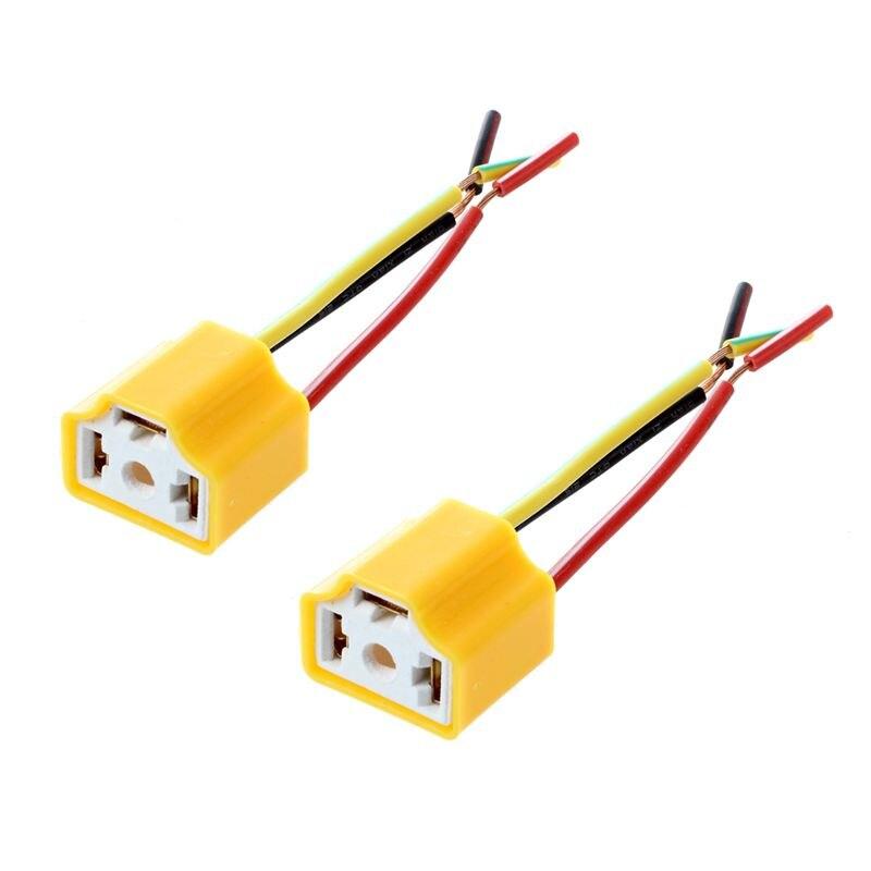 Auto Auto Scheinwerfer Stecker Stecker H4 Lampe Steckdose 2 Pcs