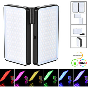 VIJIM R316 Foldable RGB LED Video Light 2600K-12000K 20W 2960 LUX Fill Light With OLED Display Photography Studio Light DSLR