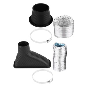 Image 4 - 1Set Car Cold Air Intake System Kit Air filter Auto Front Bumper Turbo Air Intake Pipe Turbine Inlet Pipe Air Funnel Kit