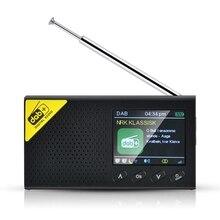 Taşınabilir Bluetooth dijital radyo DAB/DAB + ve FM alıcı şarj edilebilir hafif ev radyo