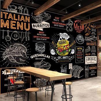 Ściana z personalizowanym zdjęciem papieru 3D Hamburger Pizza zachodnia restauracja Fast Food kawiarnia tapeta tło Mural Papel De Parede tanie i dobre opinie NONE CN (pochodzenie) USD rolka Tapeta z włókna drzewnego PRINTED Europejska Tapety materiałowe Włókniny SALON do pokoju z pościelą
