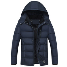 Men Jacket Coats Thicken Warm North Winter Windproof Jackets Casual Mens Cotton-padded Down Parka Face Hooded Outwear Plus Size