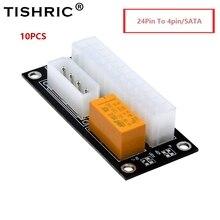 TISHRIC Cable elevador de fuente de alimentación Dual PSU ADD2PSU ATX de 24 pines a 4 pines, adaptador de conector síncrono Molex para minería, 10 Uds.