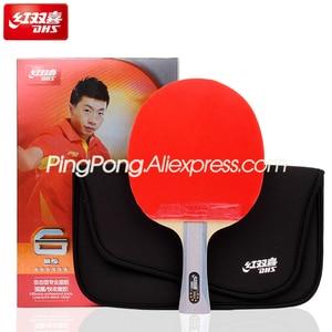 Image 2 - Dhs 6 Ster Tafeltennis Racket (6002, 6006) Met Rubber (Orkaan 8, Tinarc) + Tas Set Orignal Dhs 6 Star Ping Pong Bat