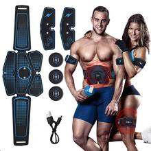 مدرب عضلات البطن EMS ، جهاز كهربائي للياقة البدنية والصالة الرياضية بمدخل USB ، جهاز عضلات البطن Abs ، جهاز تدليك الحبر لعضلات البطن