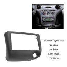 Автомобильная аудиопанель 2DIN для Toyota Vitz Yaris, Echo 1999-2005 рамка для приборной панели CD DVD монтажный комплект рамка