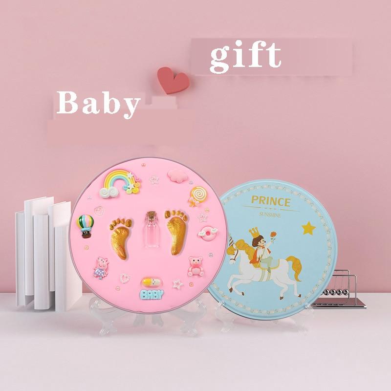 Baby Gift Baby Footprint Air Drying Soft Clay Baby Items Babies Hand Foot Imprint Kit Casting Toys Print Pad Newborn Souvenir