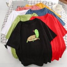 Забавная женская рубашка с принтом черепахи кактуса harajuku