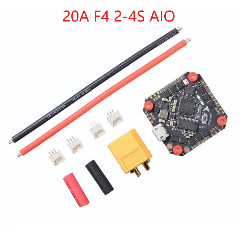 GHF411AIO F4 Flight Controller AIO Betaflight OSD 2-4S BLHELI_S 20A / <font><b>30A</b></font> <font><b>ESC</b></font> Brushless for 3-5'' Mini RC Drone Quadcopter image