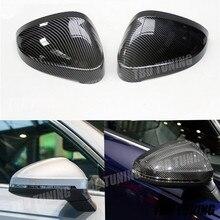 A4 A5 B9 Carbon Fiber Look Mirror Cover For Audi A4 A5 B9 2017 2018 2019 Rear View Mirror Cover For Audi A4 A5 B9