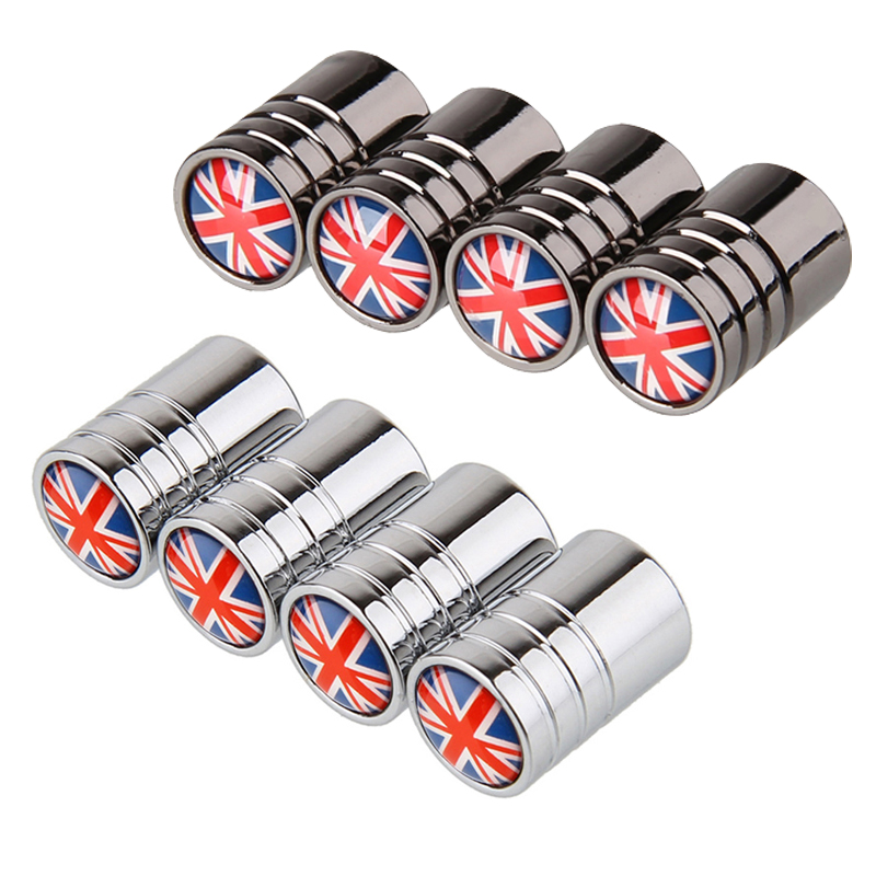 For Honda Type R Smart Fortwo 450 Fiat Uno Changan Cx70 Range Rover Vogue Car Styling Metal Wheel Stem Covers Tire Valve Caps
