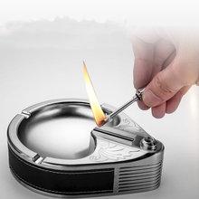 Bussiness metal ashtray ten thousand match lighter kerosene