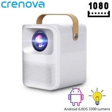 CRENOVA – Mini projecteur Portable ET30S, 1080P, Full HD, Android, Wifi, 3D, pour Home cinéma