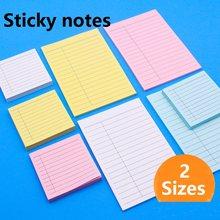 Note autocollante avec lignes noires, 2 tailles 76x76mm 102x152mm, 40/100 feuilles, pour réunion, travail, école, devoirs, plan de notes 21526