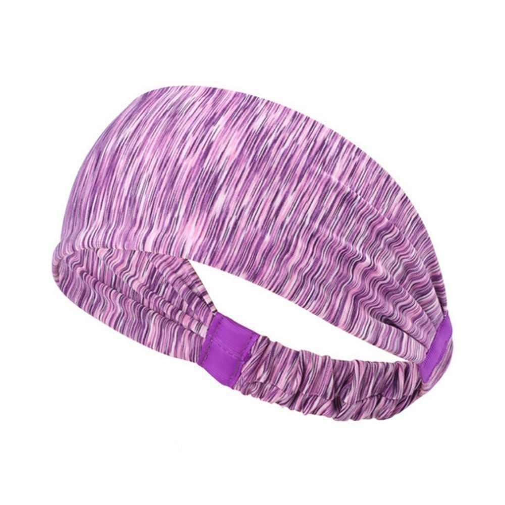 1 pc 다채로운 스포츠 머리띠 여자 남자 소프트 높은 탄성 스포츠 sweatband hairband 요가 피트 니스 자전거 실행