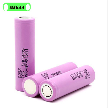 6-12PCS/lot 18650 3.7V 2600mAh Batteries for Samsung 26F ICR18650 Lithium Rechargeable Battery Real Capacity 100pcs lot new genuine sanyo 18650 3 7v 2600mah ur18650zy rechargeable li ion battery batteries free shipping