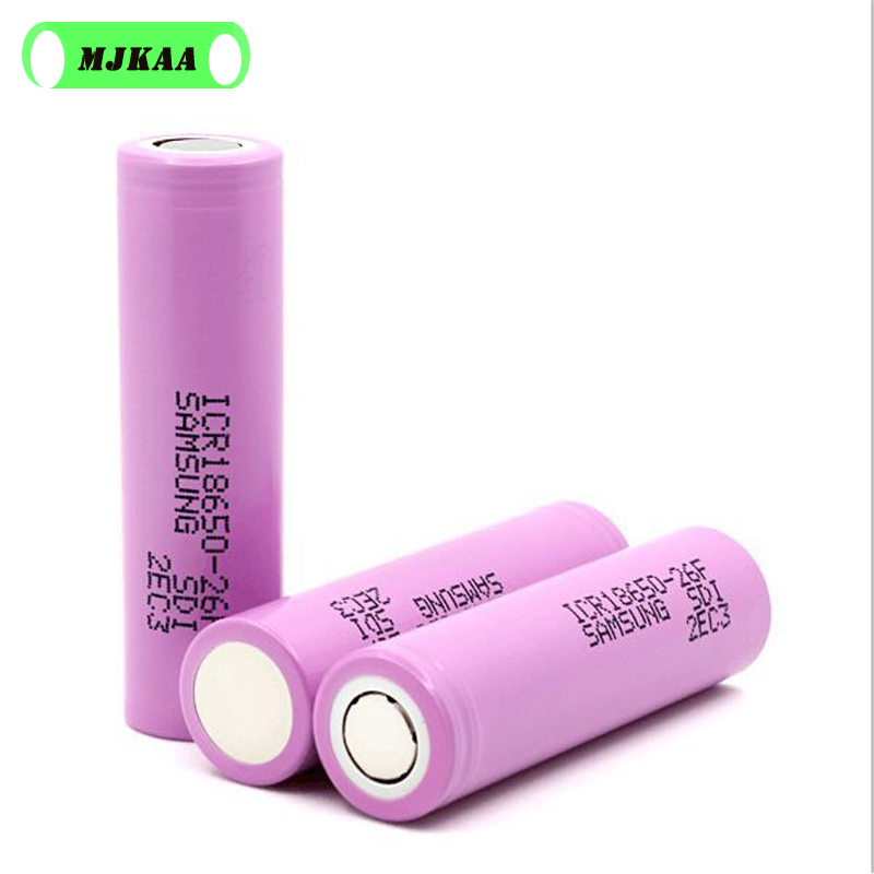 6-12PCS/lot 18650 3.7V 2600mAh Batteries for Samsung 26F ICR18650 Lithium Rechargeable Battery Real Capacity image