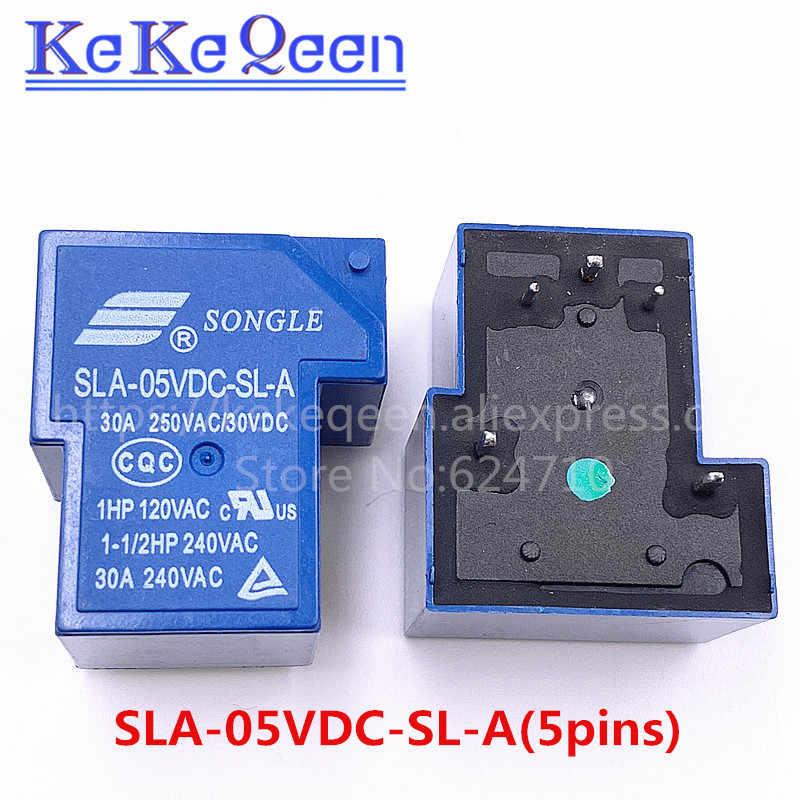 Мощность реле SLA-05VDC-SL-A SLA-12VDC-SL-A SLA-24VDC-SL-A SLA-48VDC-SL-A 5V 12V 24V 48V 30A 5PIN T90 группа нормально разомкнутый