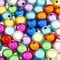 Акриловые бусины-разделители смешанных цветов, 4, 6, 8, 10, 12 мм