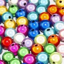 Preço de fábrica qualidade superior 4 6 8 10 12mm cor mista 3d ilusão milagre acrílico espaçador contas perles
