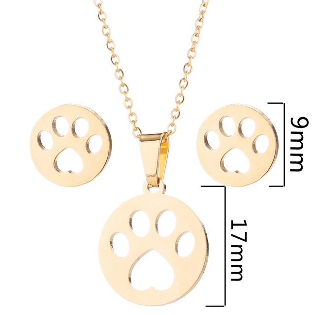 Dog Pendant Necklace Set 3