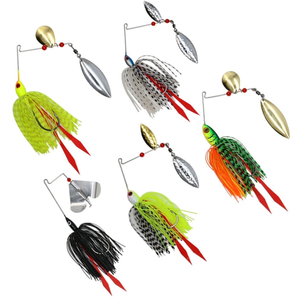 Mycena 5pcs/set 16G&18G&21G  spinnerbait  Chatter bait fishing lure  chatterbait Fishing Kit  Wobblers For Bass Fishing Tackle-1