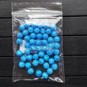 Image 4 - 100 יח\חבילה 6mm סינטטי עגול כדור אופל חרוזים כחול עגול אופל אבן מחיר עבור צמיד & שרשרת