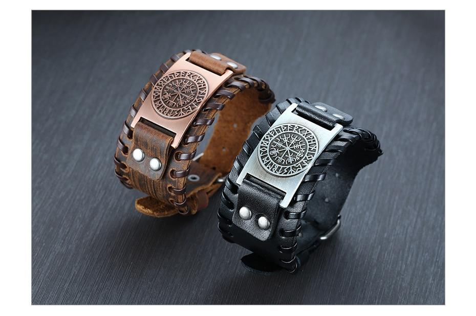 Hd1f2d67ba872400da505f02c6c24498fJ - Viking Leather  Bracelets
