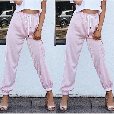 Hot Sale Fashion Leggings Sweat Wear Plus Size S-XL Women Joggers Casual Loose Side Striped Long Pants Sweatpants Trousers Islamabad