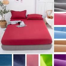 1 pces cabido folha cor sólida lençóis de cama única dupla rainha tamanho 150cm * 200cm colchão capa de cama (sem fronha)