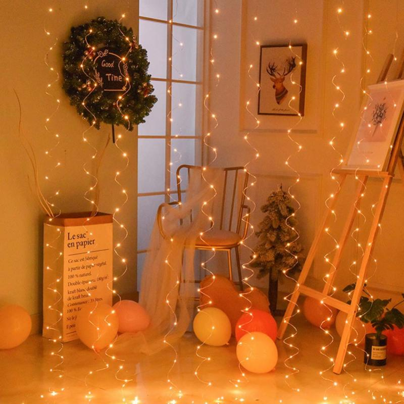 3x1/3x2/3x3M 100/200/300LED Holiday Lighting String Lights Christmas Fairy Lights For Wedding/Party/Curtain/Garden Decoration